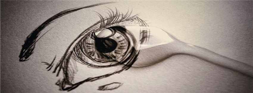 Broken Heart Sad Girl Wallpaper Crying Eye Painting Fb Cover