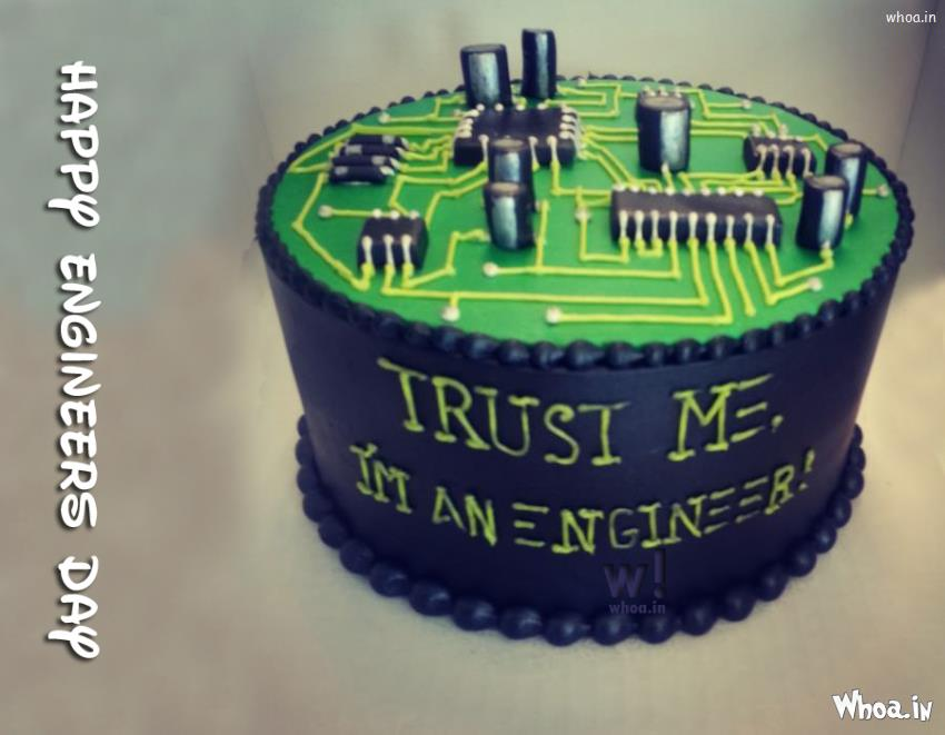 Birthday Cake Wallpaper 3d Happy Engineering Day Cake With Quote