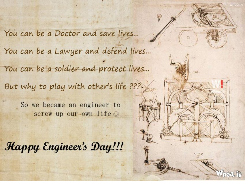 Civil Engineering Quotes Wallpapers Happy Engineering Day Painting And Quotes