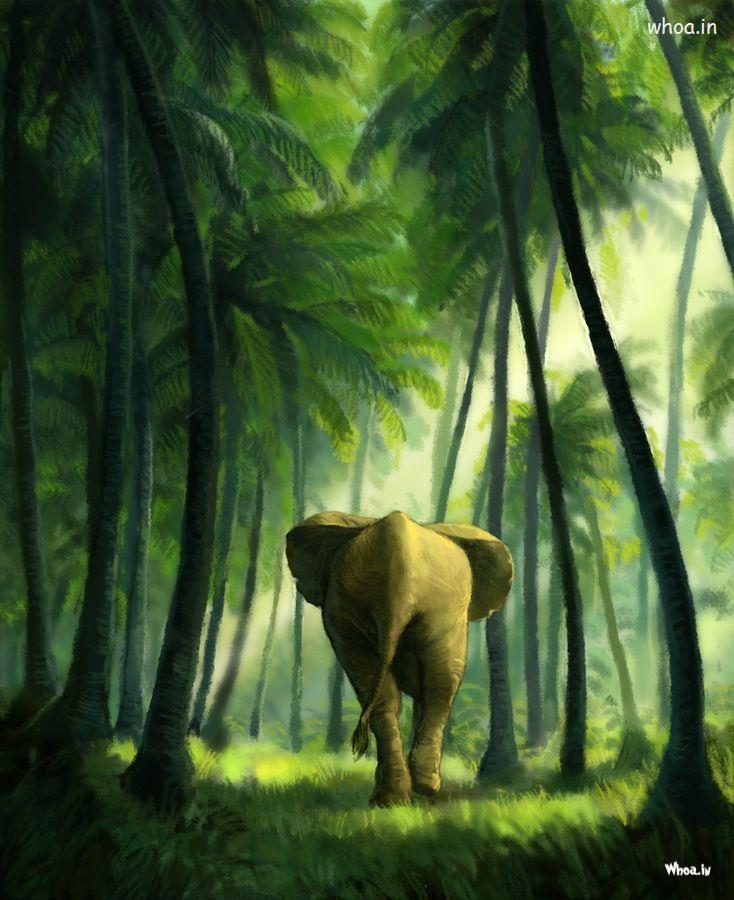 Vishnu 3d Wallpaper Natural Illustration Art Image Of An Elephant