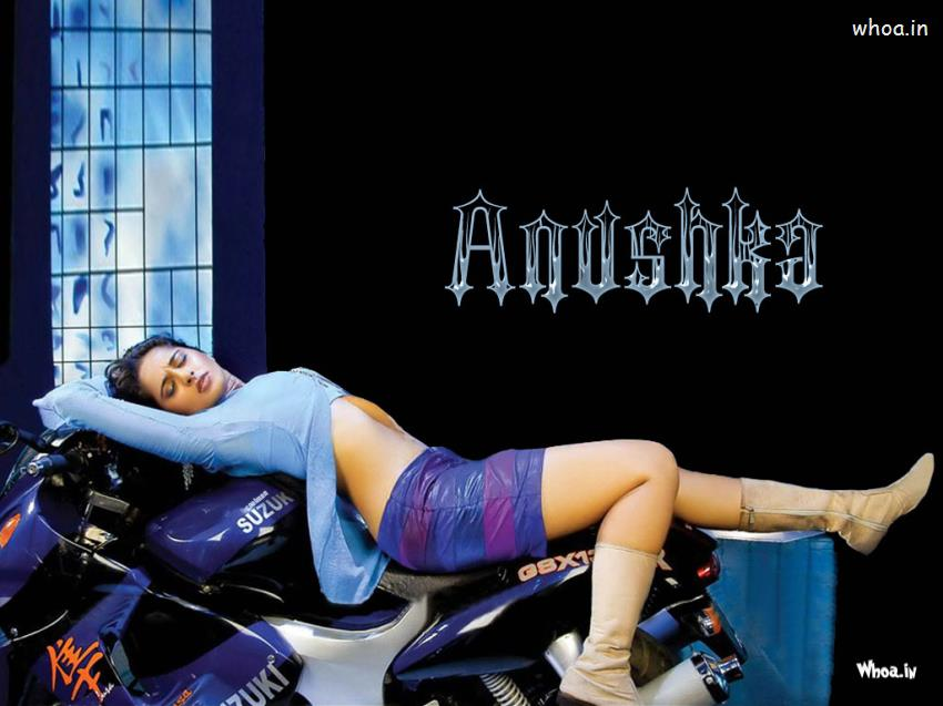 Funny Wallpapers With Quotes In Telugu Anushka Shetty Hot Photoshoot On A Bike