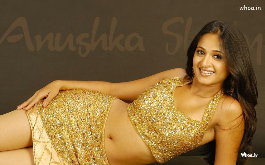 Cute Pinterest Quote Wallpapers Anushka Shetty Laying In Golden Color Maxim
