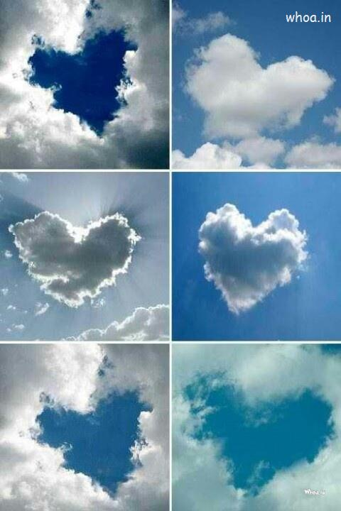 Hd Quotes Wallpapers For Windows 7 Clouds Heart Shape