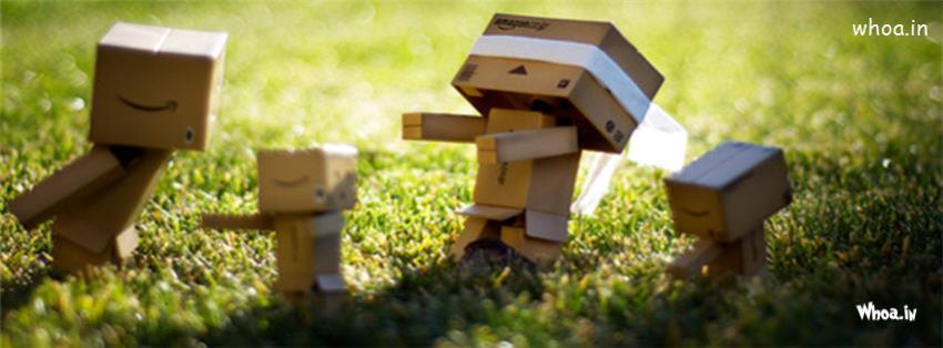Cute Baby Couple Wallpapers In Hd Danbo Robot Couple Playing With Their Children Fb Cover