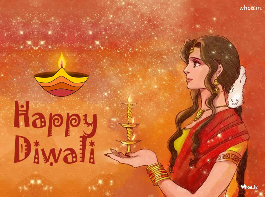 Hindu God Krishna Wallpaper 3d Happy Diwali Greetings Art Wallpaper
