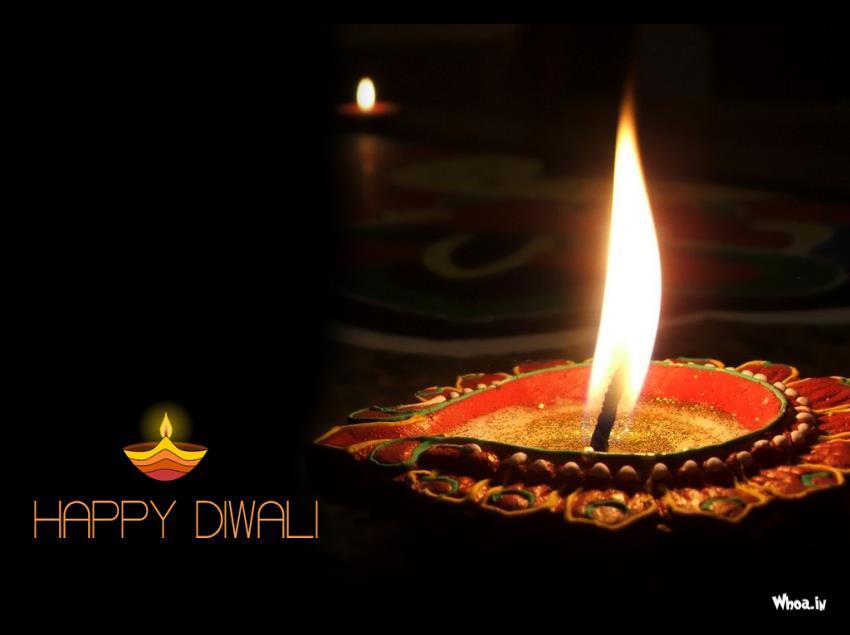 Cute Wallpapers Emoji Happy Diwali Greetings Dark Wallpaper With Deepak