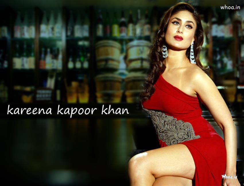 Indian Cute Child Wallpapers Kareena Kapoor Khan Hot Red Dress Photoshoot