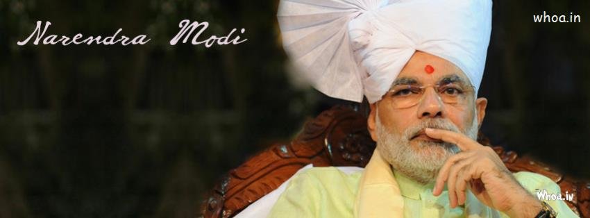 Good Morning Wallpapers With Quotes For Facebook Narendra Modi Thinking In White Turban Fb Cover