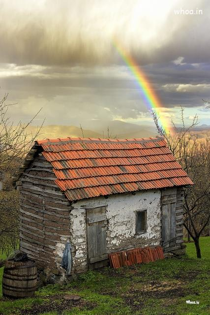 Funny Good Night Quotes Wallpaper Rainbow In Village In Monsoon