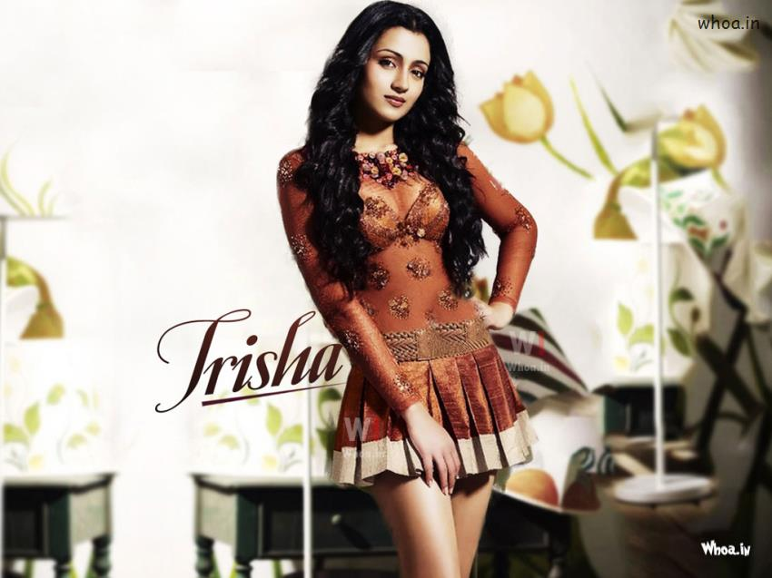 Krishna And Radha 3d Wallpaper Trisha Krishnan In Maxim Hd Wallpaper