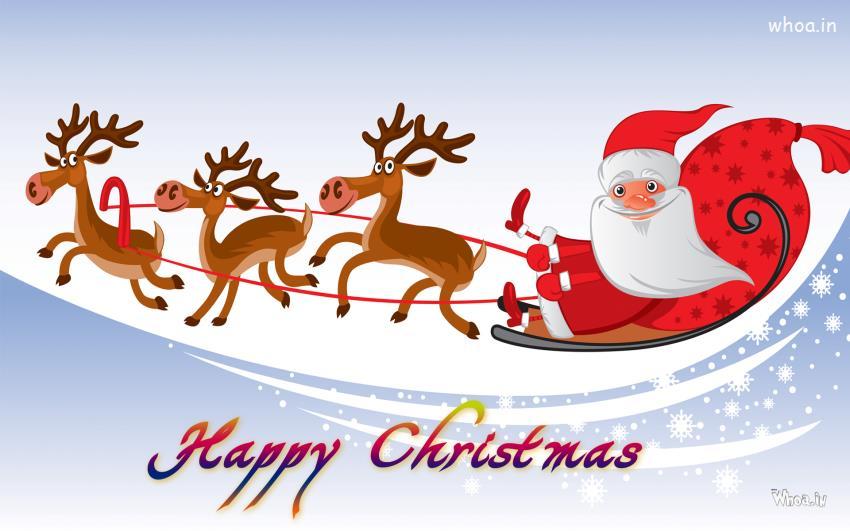 Beautiful Wallpapers 3d Animation Merry Christmas Greetings Cartoon Wallpaper