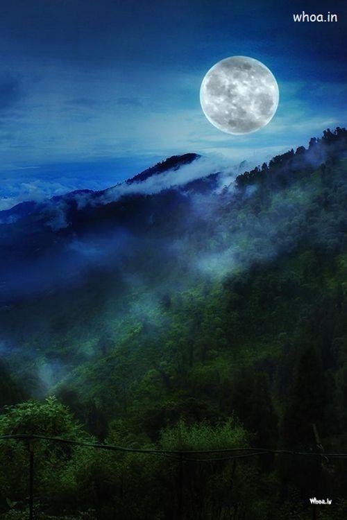Om Sai Ram Wallpaper 3d Moon On Everest Natural Hd Wallpaper