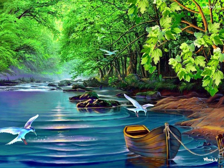 Zen Quote Wallpapers Natural Flying Bird Hand Painting Wallpaper