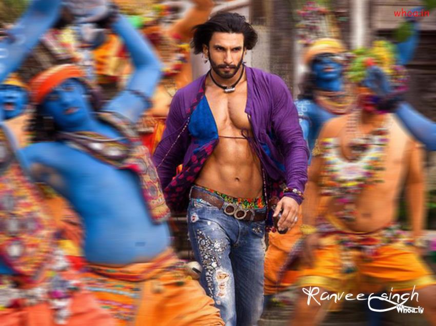 Holi Wallpaper 3d Ranveer Singh In Ram Leela Movie Slow Motion Wallpaper