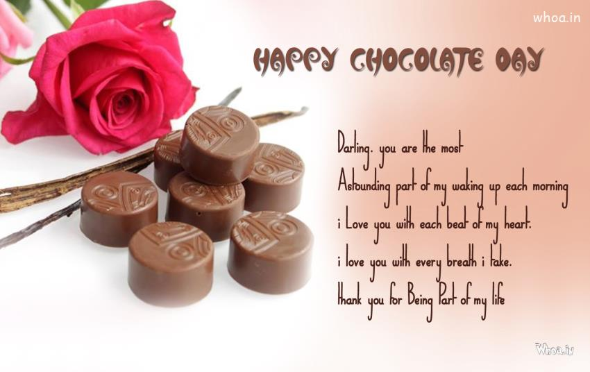 Om 3d Wallpaper Hd Happy Chocolate Day Greetings With Round Shape Chocolates