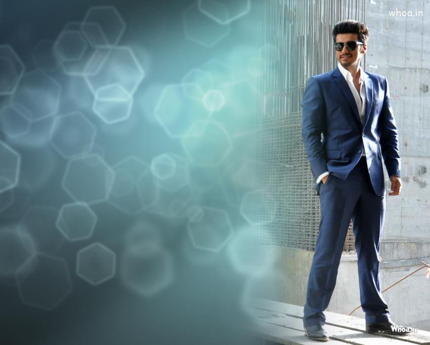 Shiva Quotes Wallpaper Arjun Kapoor Blue Suit At The Press Conference