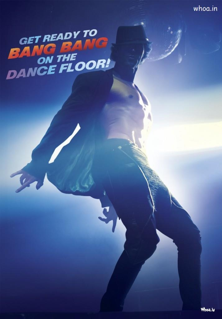 Happy Diwali 3d Wallpaper Bang Bang 2014 Movie Poster With Hrithik Roshan Dancing
