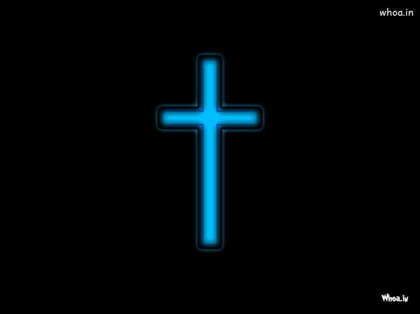 Navratri Wallpaper With Quotes Christian Cross In Black Background