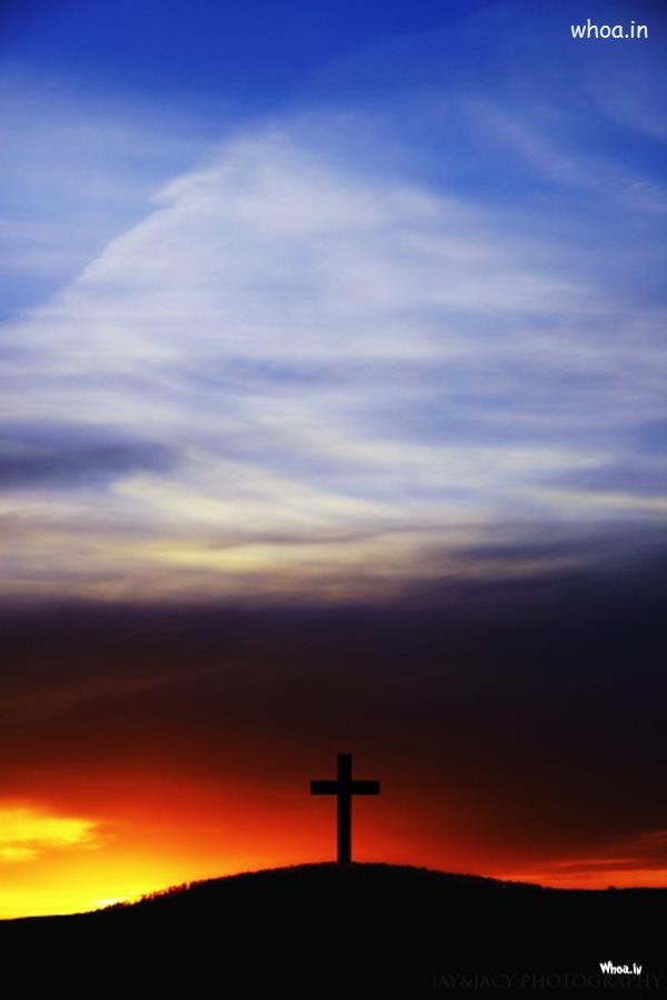 Om 3d Wallpaper Hd Cristian Cross On Mountain