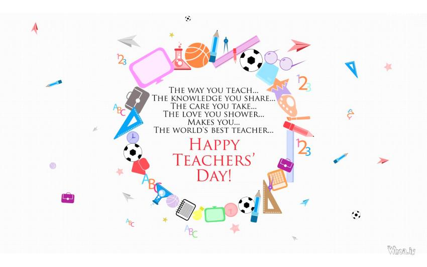 3d Holi Wallpapers Free Download For The The World S Best Teacher Happy Teacher Day Image