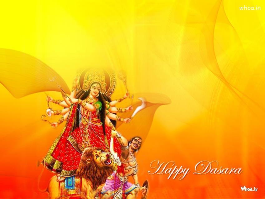 Holi 3d Wallpaper Name Happy Dussehra With Nav Durga Wallpaper