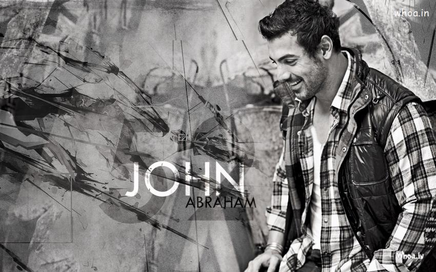 Om 3d Wallpaper Download John Abraham In Black And White Wallpaper