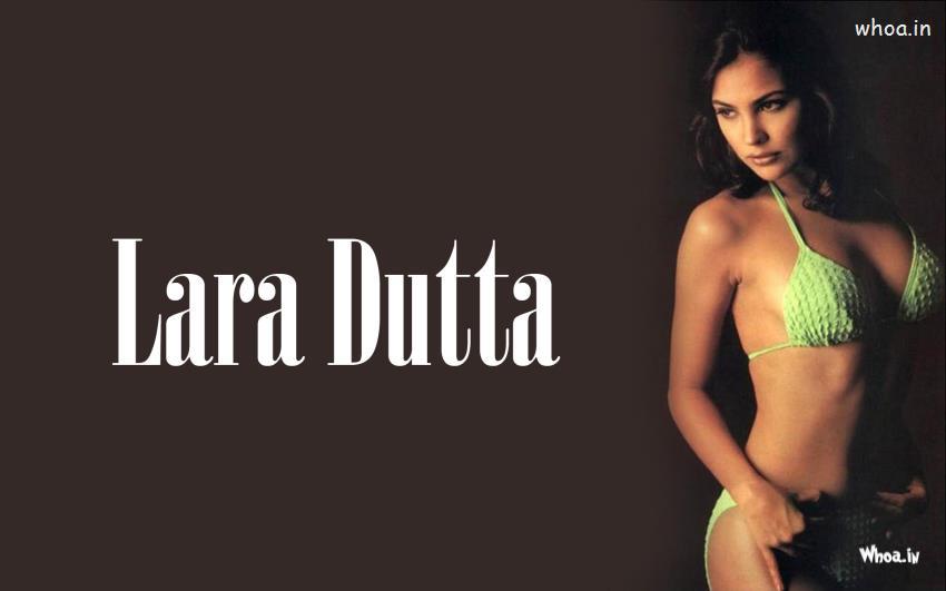 3d Wow Wallpaper Lara Dutta Hot Photoshoot In Green
