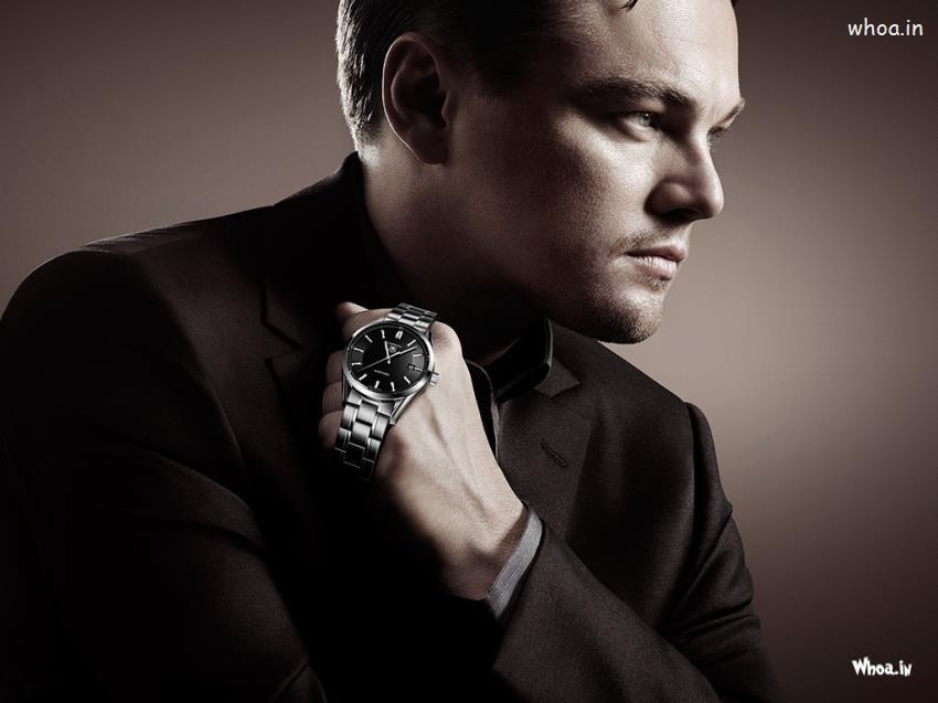 Shri Ram Wallpaper 3d Leonardo Dicaprio In Black Suit With Stylish Watch