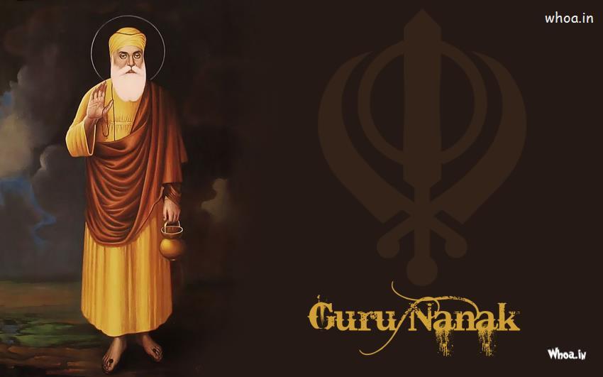 Cars Symbol Wallpaper Lord Guru Nanak And Symbol Of Sikh With Dark Background Images