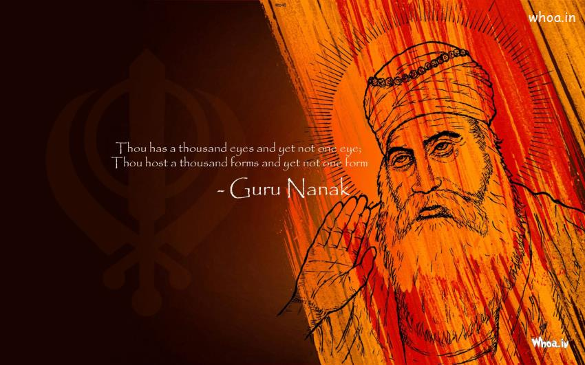 John Abraham 3d Wallpapers Lord Guru Nanak With Quote Hd Wallpaper