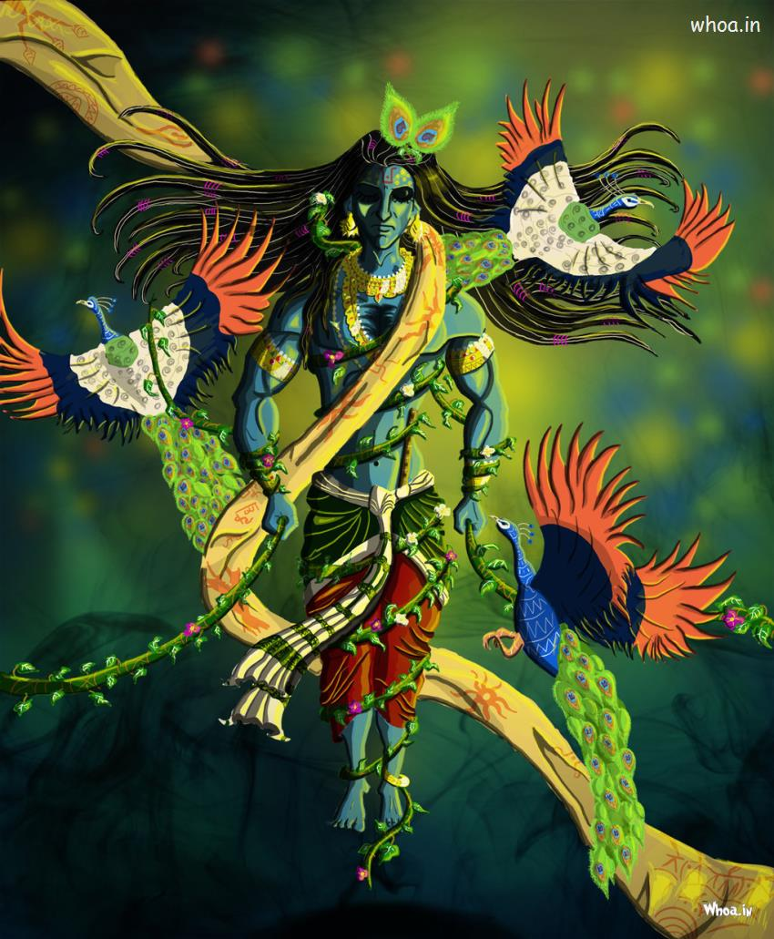 Sadhguru Wallpaper Quotes Lord Krishna Multicolor Painting Hd Images