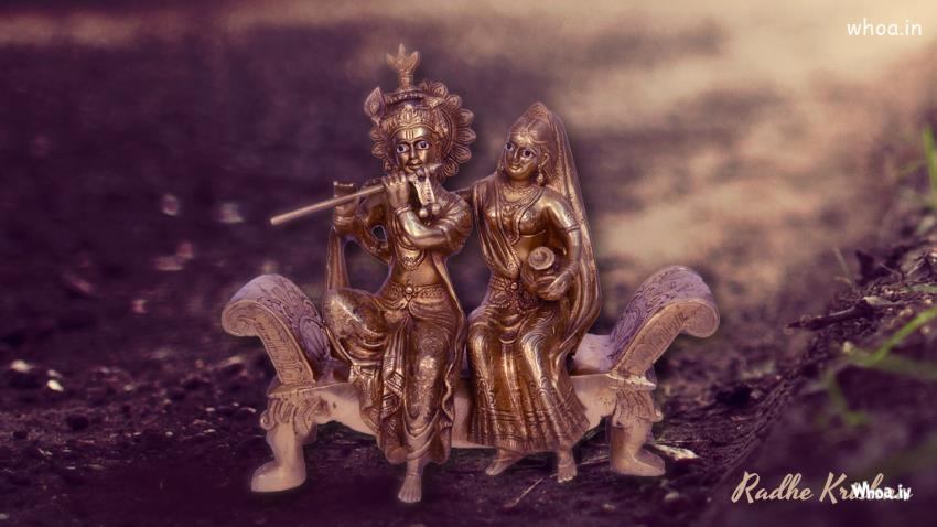 Krishna And Radha 3d Wallpaper Lord Radhe Krishna Statue Hd Wallpaper