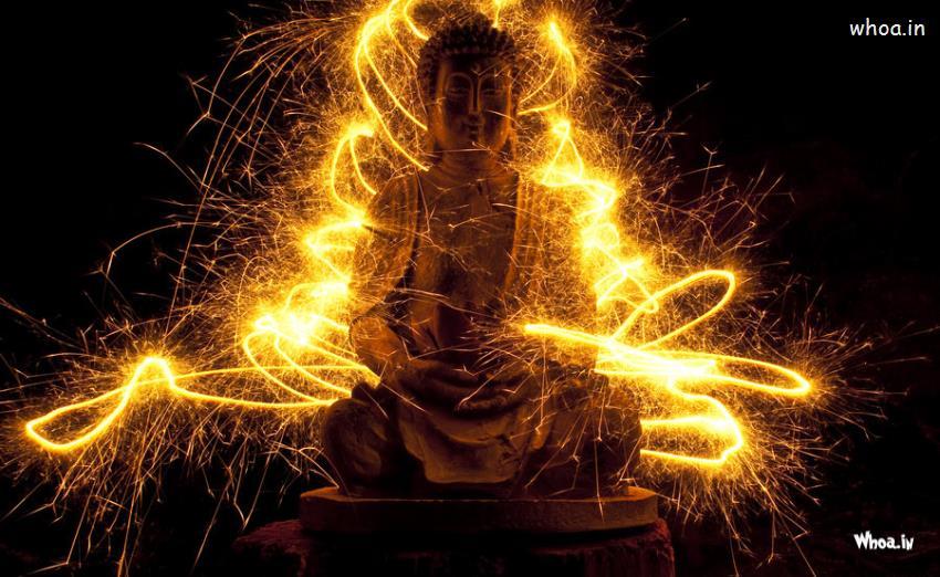 Cute Ganesh Hd Wallpaper Magic Lord Buddha With Dark Background Wallpaper