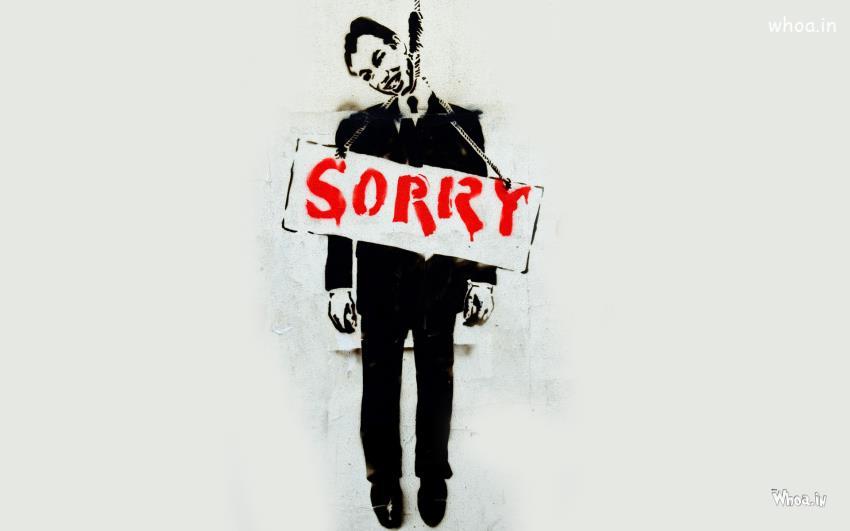 Cute Boy Cartoon Wallpaper Men Hang Suicide And Say Sorry Hd Wallpaper