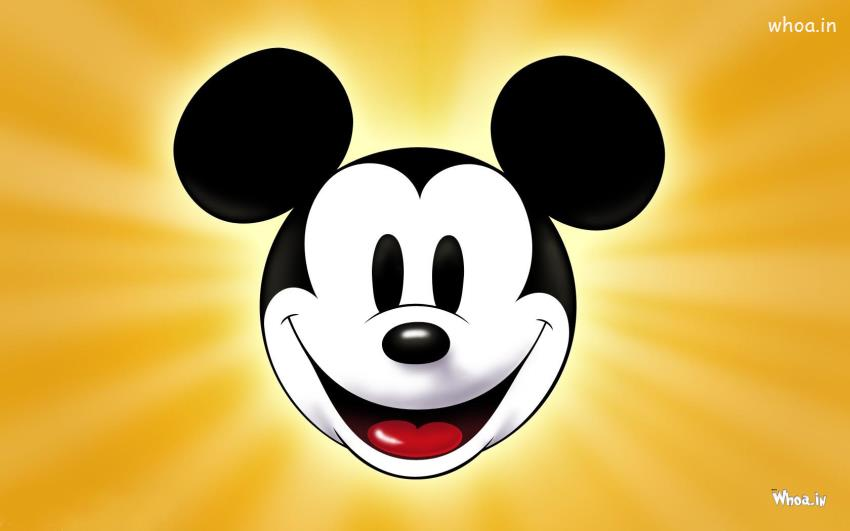 Katrina Kaif Cute Face Hd Wallpapers Mickey Mouse Face Closeup With Yellow Background Hd Wallpaper