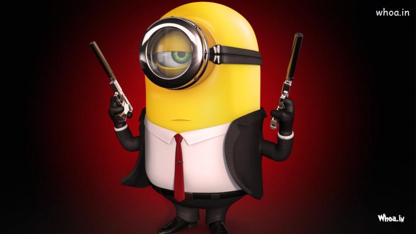 Pitbull Wallpapers 3d Minions James Bond Style Hd Wallpaper
