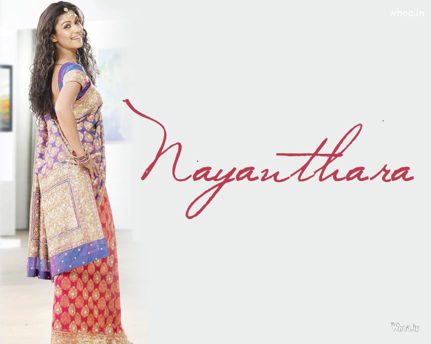 Good Night Wallpaper With Quotes For Fb Nayantara Poses In Saree