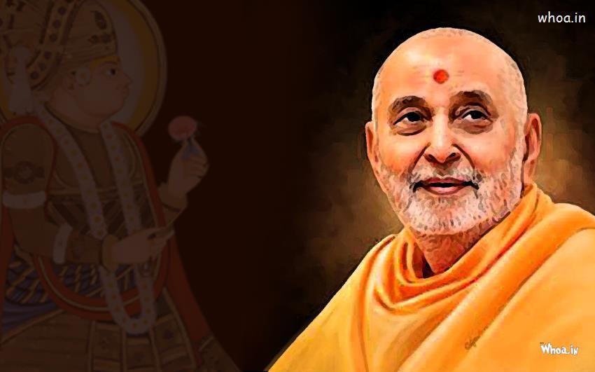 Swami Samarth Wallpaper 3d Pramukh Swami With Lord Swaminarayan Desktop Hd Wallpaper