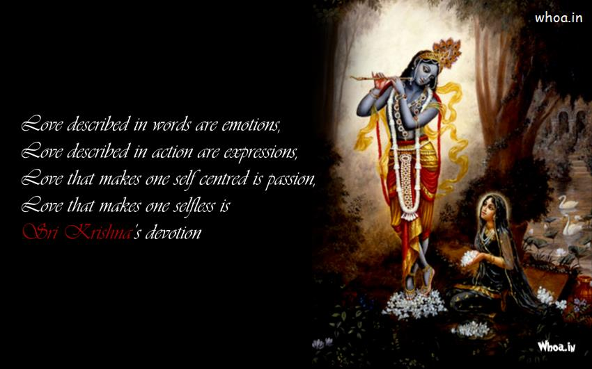 Baby Krishna Wallpaper 3d Radha Sitting Besides Krishna With Quote Wallpaper Hd