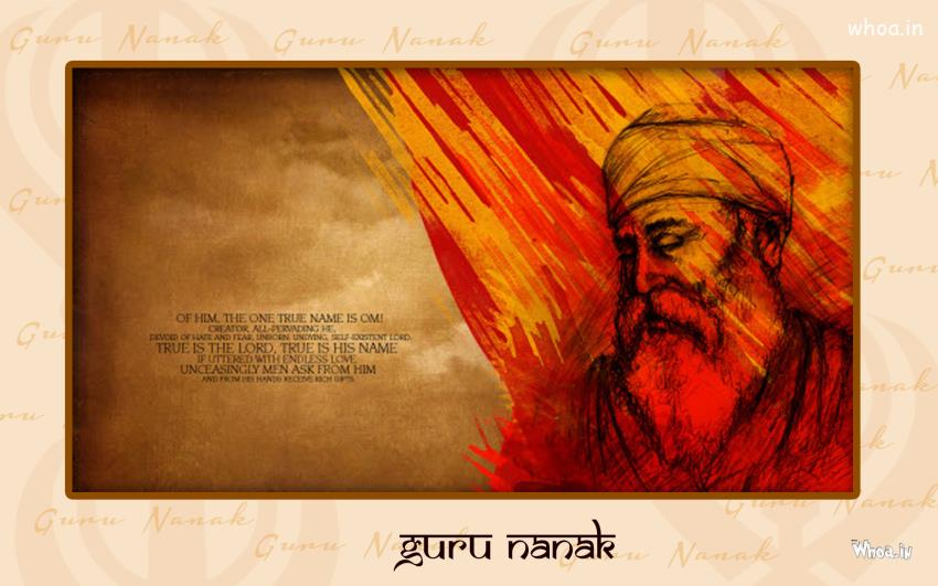 Cute Friendship Wallpapers Hd Sikh Lord Guru Nanak With Quote Hd Wallpaper