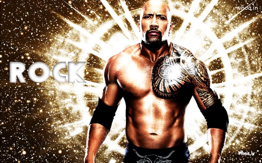 Download Wallpaper 3d Android The Rock Showing His Tattoo Wallpaper