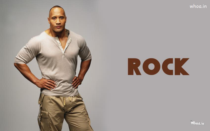 Wallpaper Of Good Night With Quotes The Rock In Grey T Shirt Wallpaper