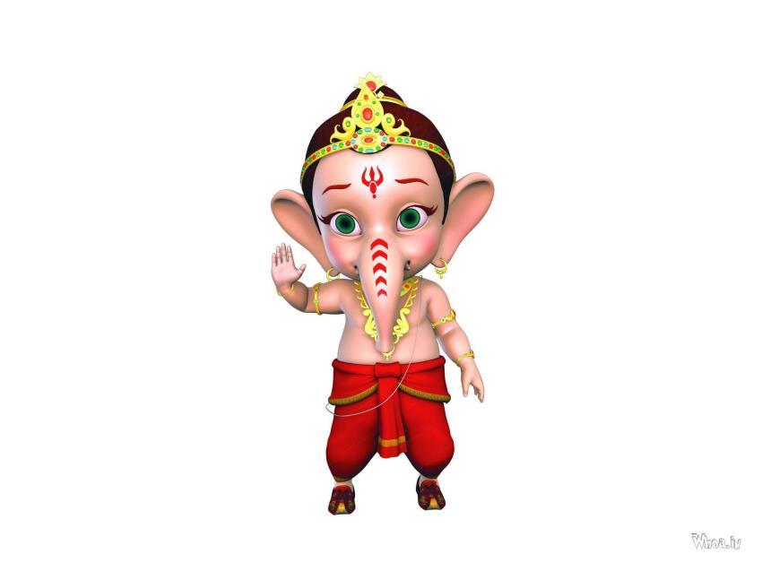 Cute Romantic Babies Wallpapers Bal Ganesha Cartoon Hd Wallpaper