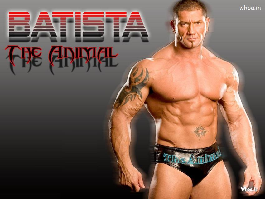 Navratri Wallpaper With Quotes Batista The Animal Shirtless Hd Wwe Wallpaper