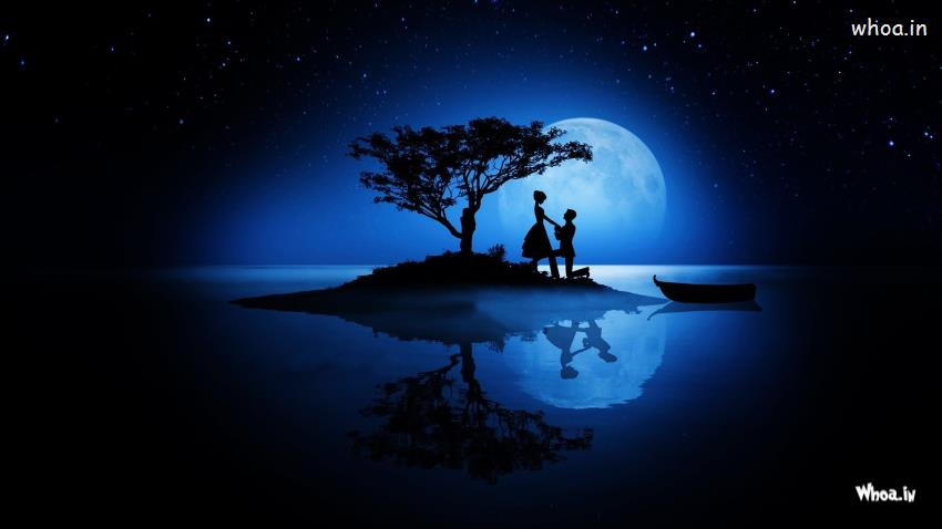 Girl Propose To Boy Wallpaper With Quotes Boy Propose Girl With Moon Light Hd Love Propose Wallpaper