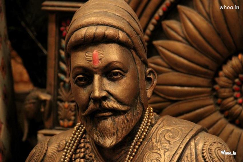 Shivaji Raje 3d Wallpaper Chatrapati Shivaji Maharaj Statue With Face Closeup Hd