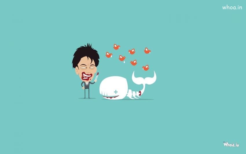 God Krishna Hd 3d Wallpaper Crazy Man With White Whale Cartoon Fun Hd Wallpaper