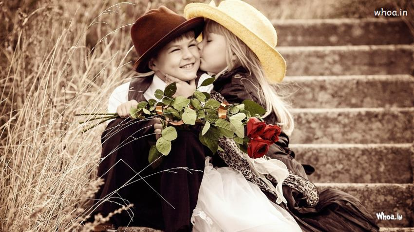Nice Wallpapers Happy New Year Greetings Quotes 1080p Cute Girl First Kiss Boy Hd Little Couple Wallpaper