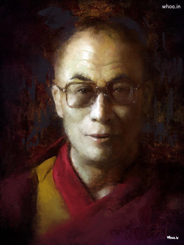 God Quotes Hd Wallpaper Dalai Lama Creative Oil Painting Hd Wallpaper