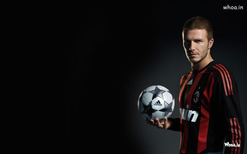 Sai Baba 3d Wallpaper David Beckham With Adidas Football With Dark Background